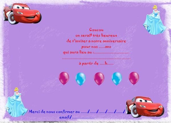 Bevorzugt Carte D'invitation Anniversaire Pour Jumeaux, Cartes  RY21